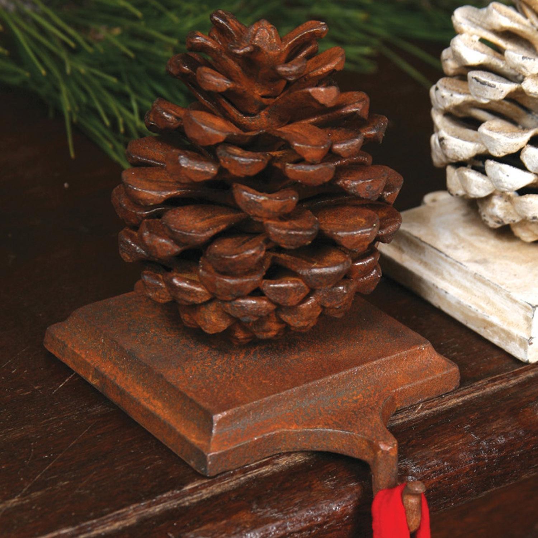 1570-1 - Stocking Holder Pinecone - Cast Iron - Rust by HomArt