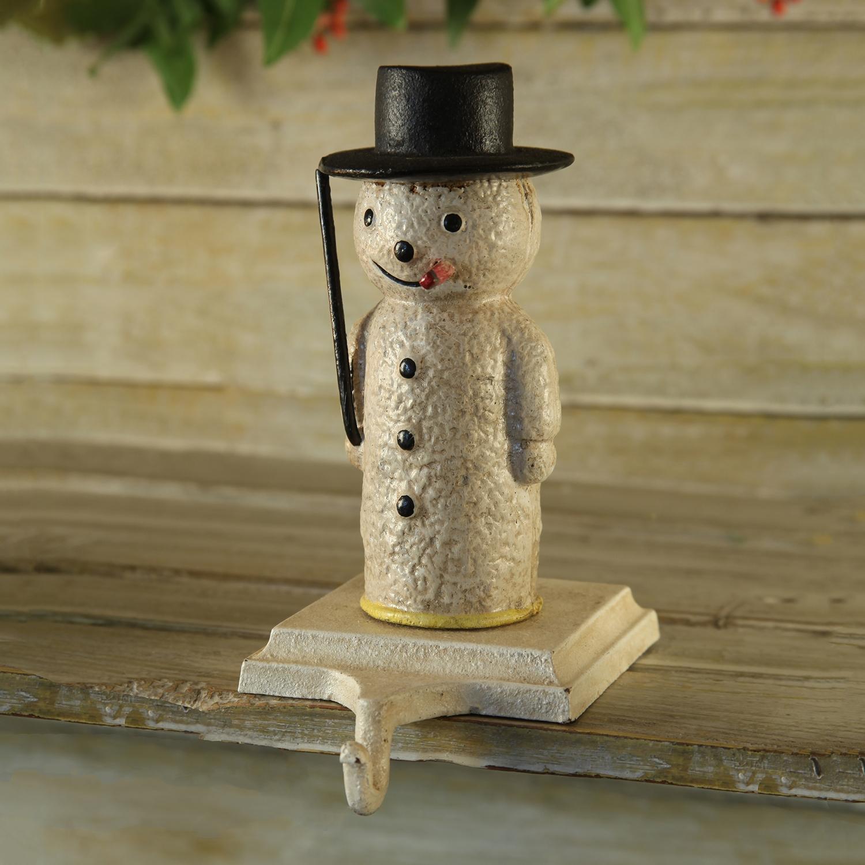 2094-6 - Snowman Stocking Holder - Cast Iron by HomArt