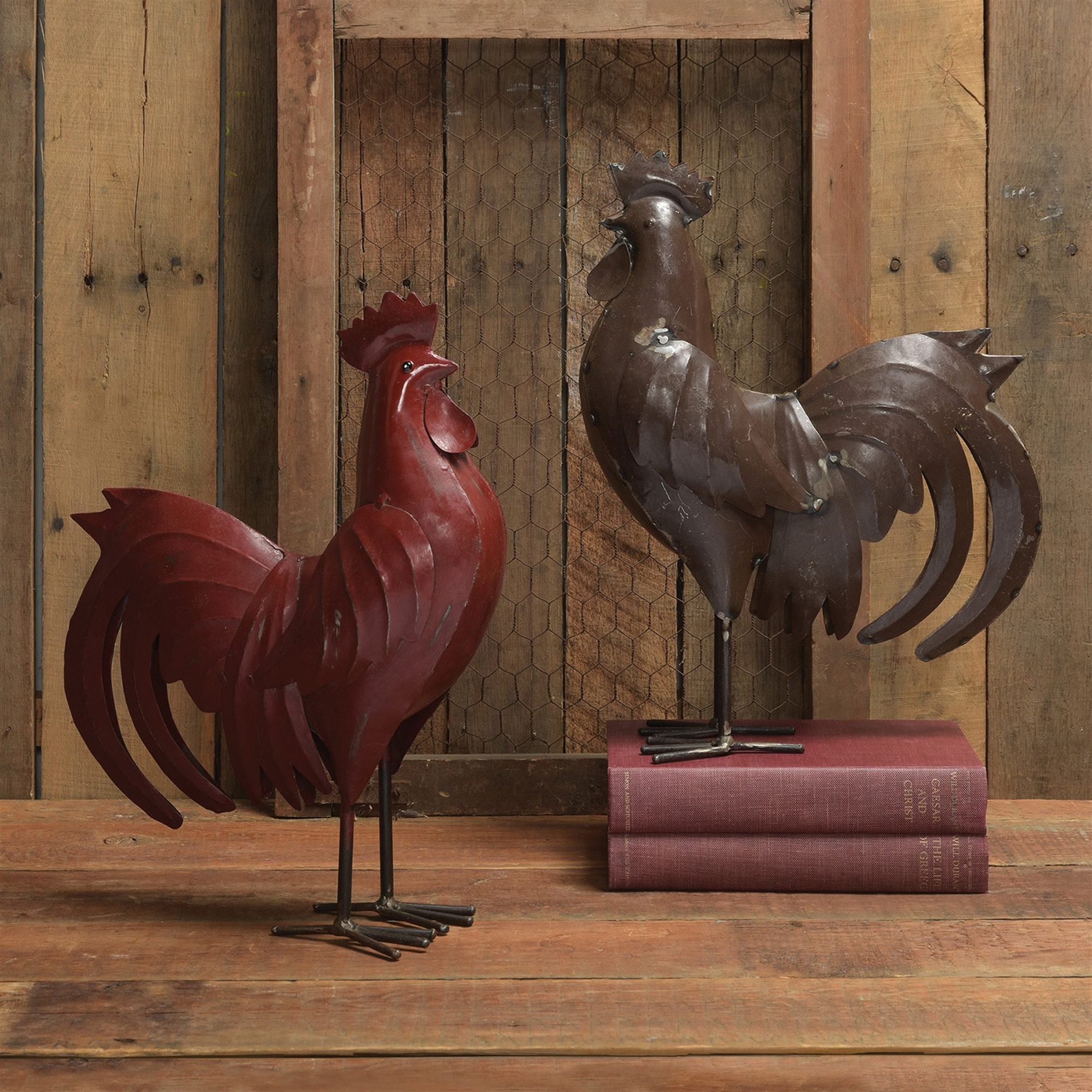23060-1-Metal Rooster - Rust by Homart