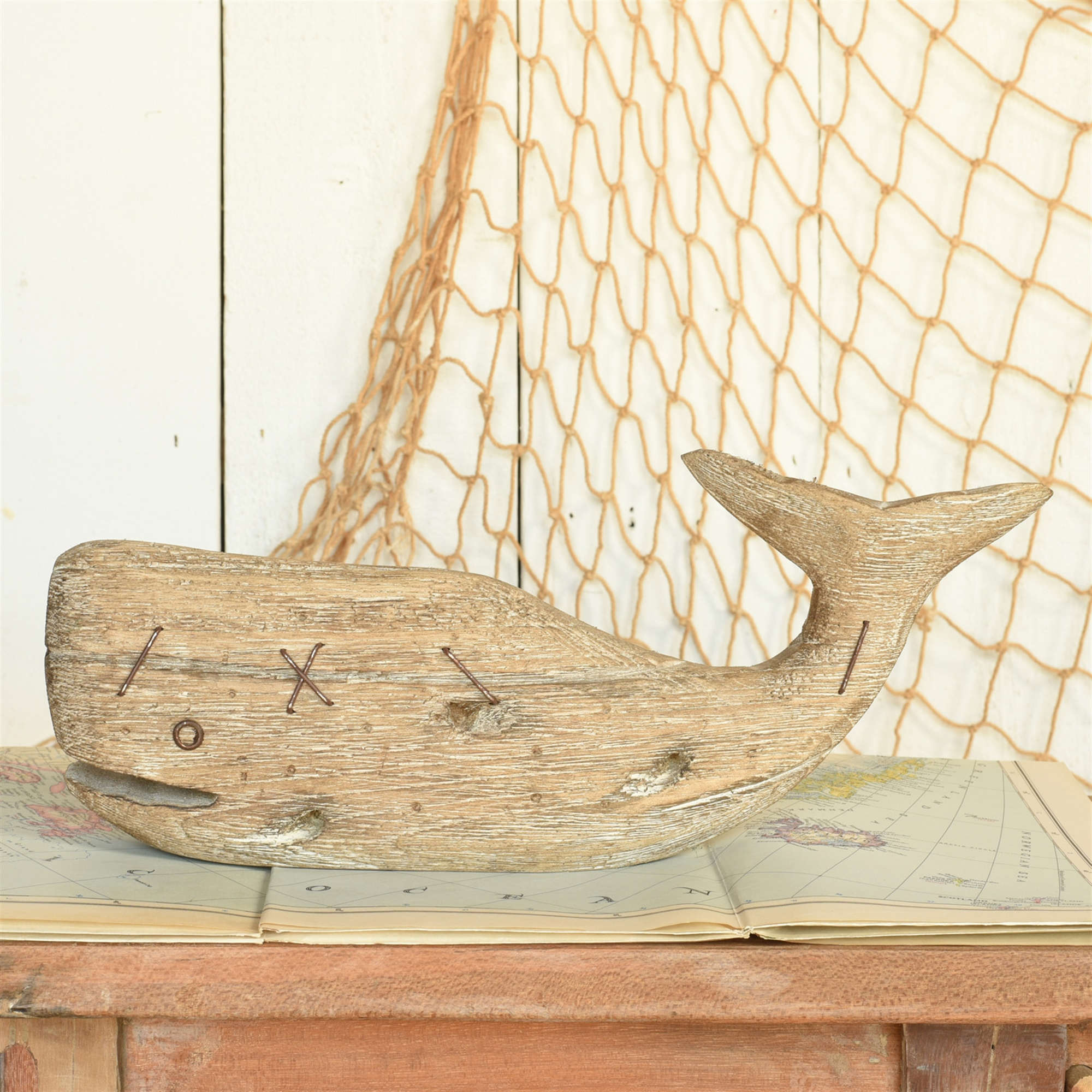 4757-0- Kelso Wood Sperm Whale - Natural Wood - Small by HomArt