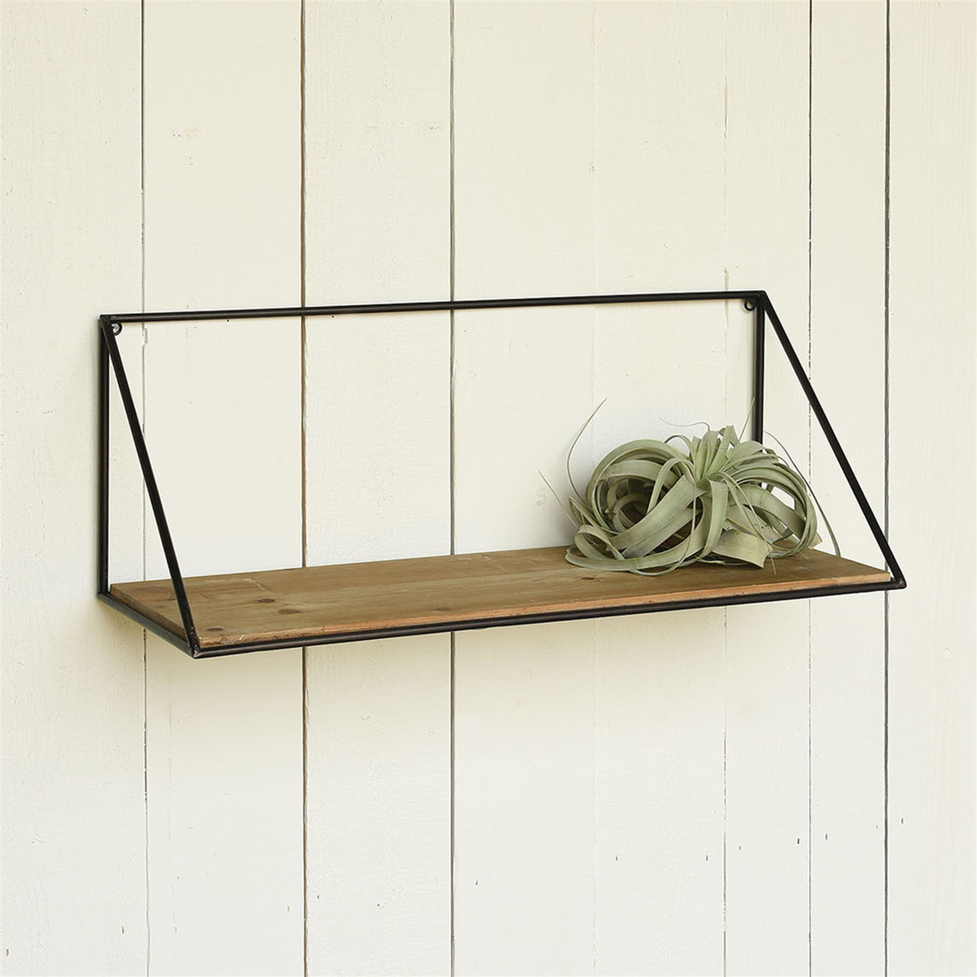 50020-0- Hull Wood & Iron Shelf - Large by HomArt