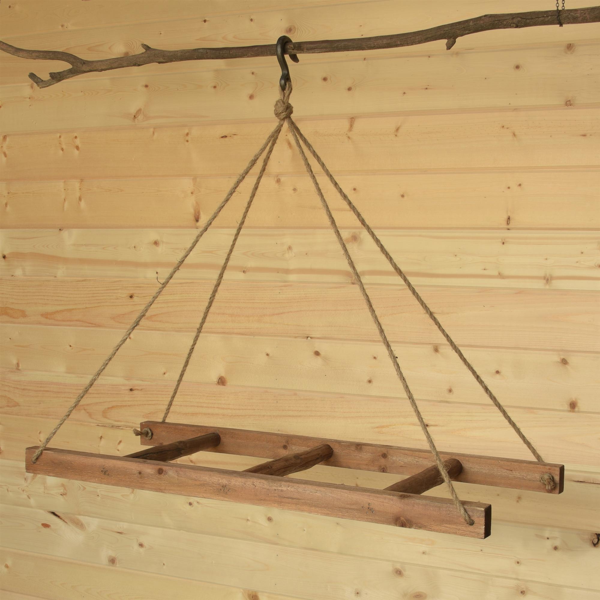 5286-0-Horizontal Hanging Wood Ladder by HomArt
