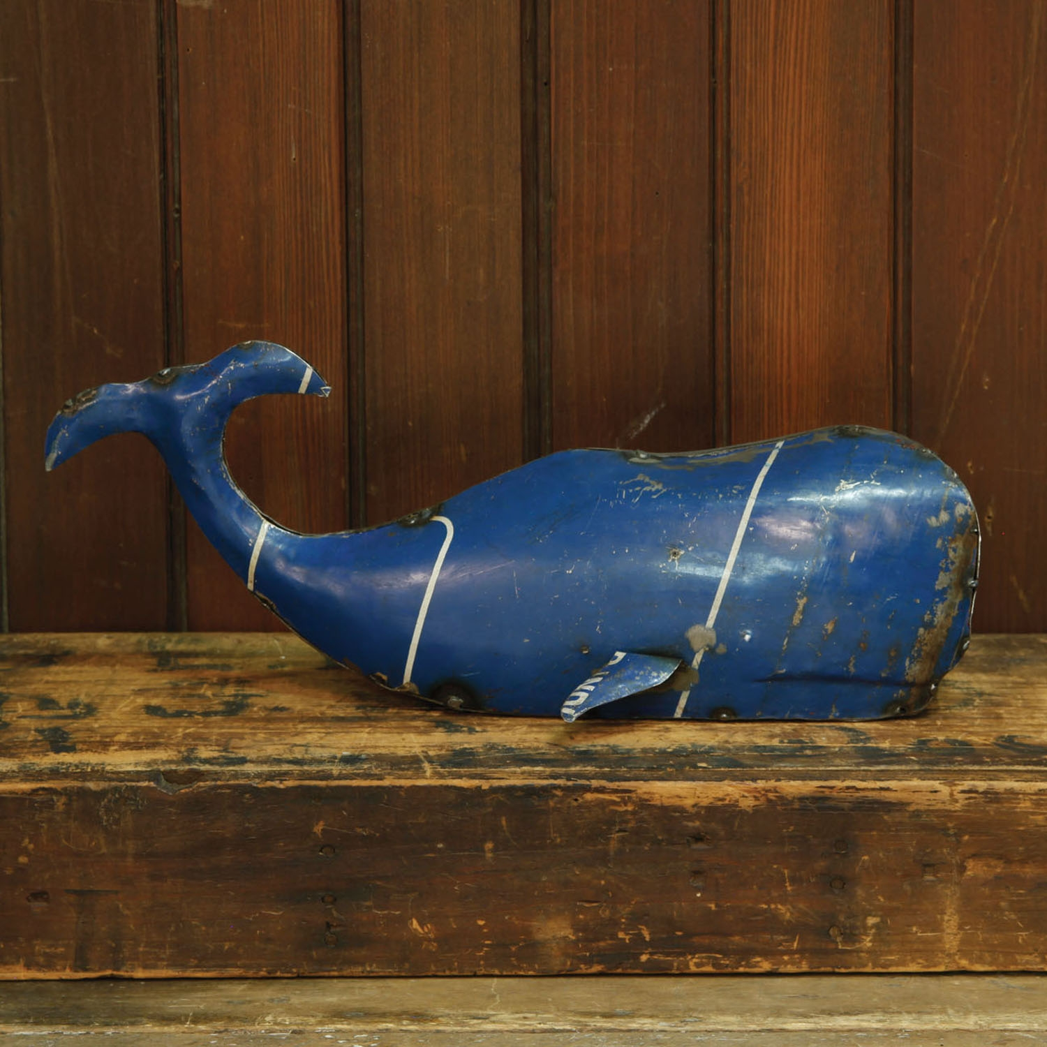 5528-0-Reclaimed Metal Whale by HomArt