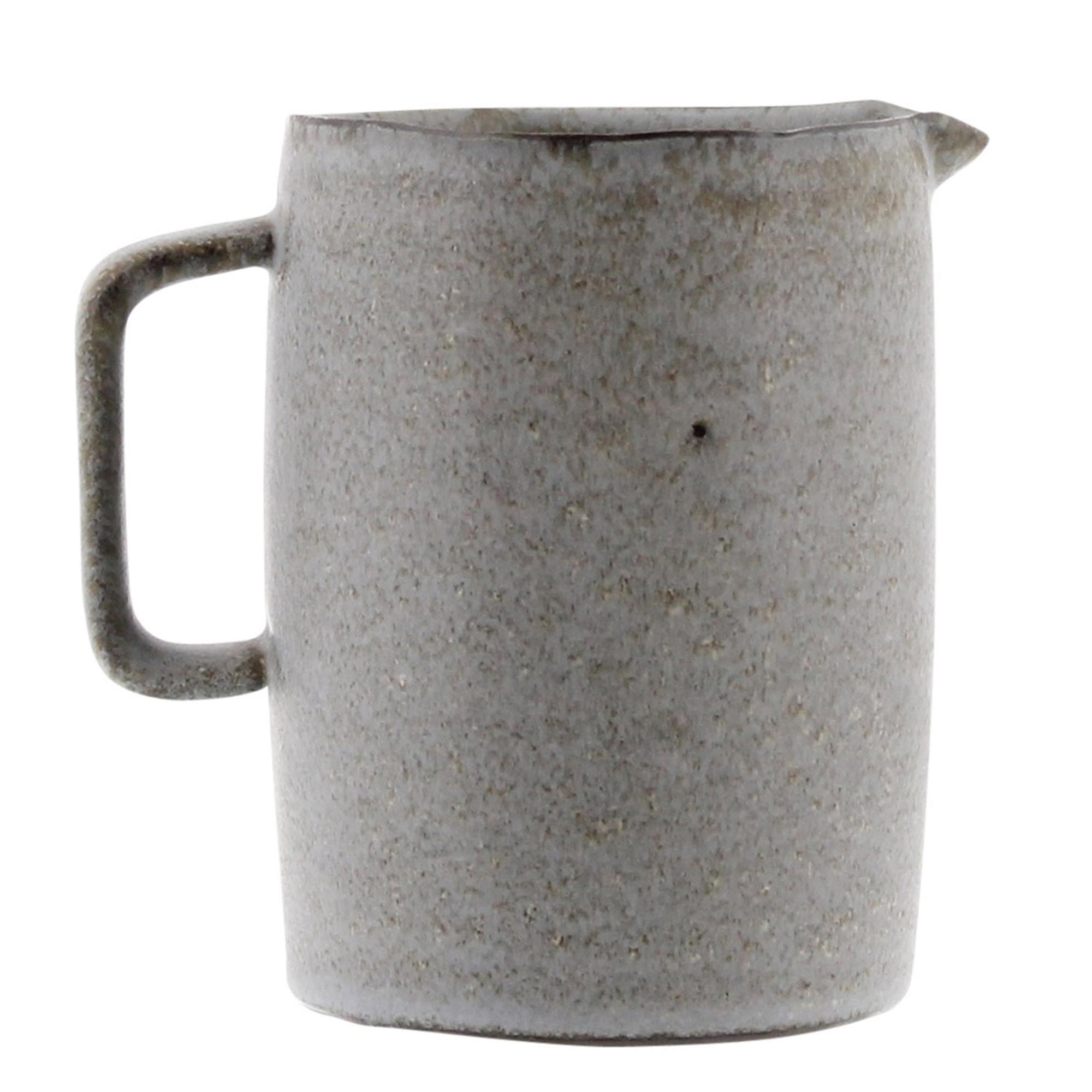 7135-0 - Tiburon Pitcher - Ceramic - Medium - Light Grey Glaze by HomArt