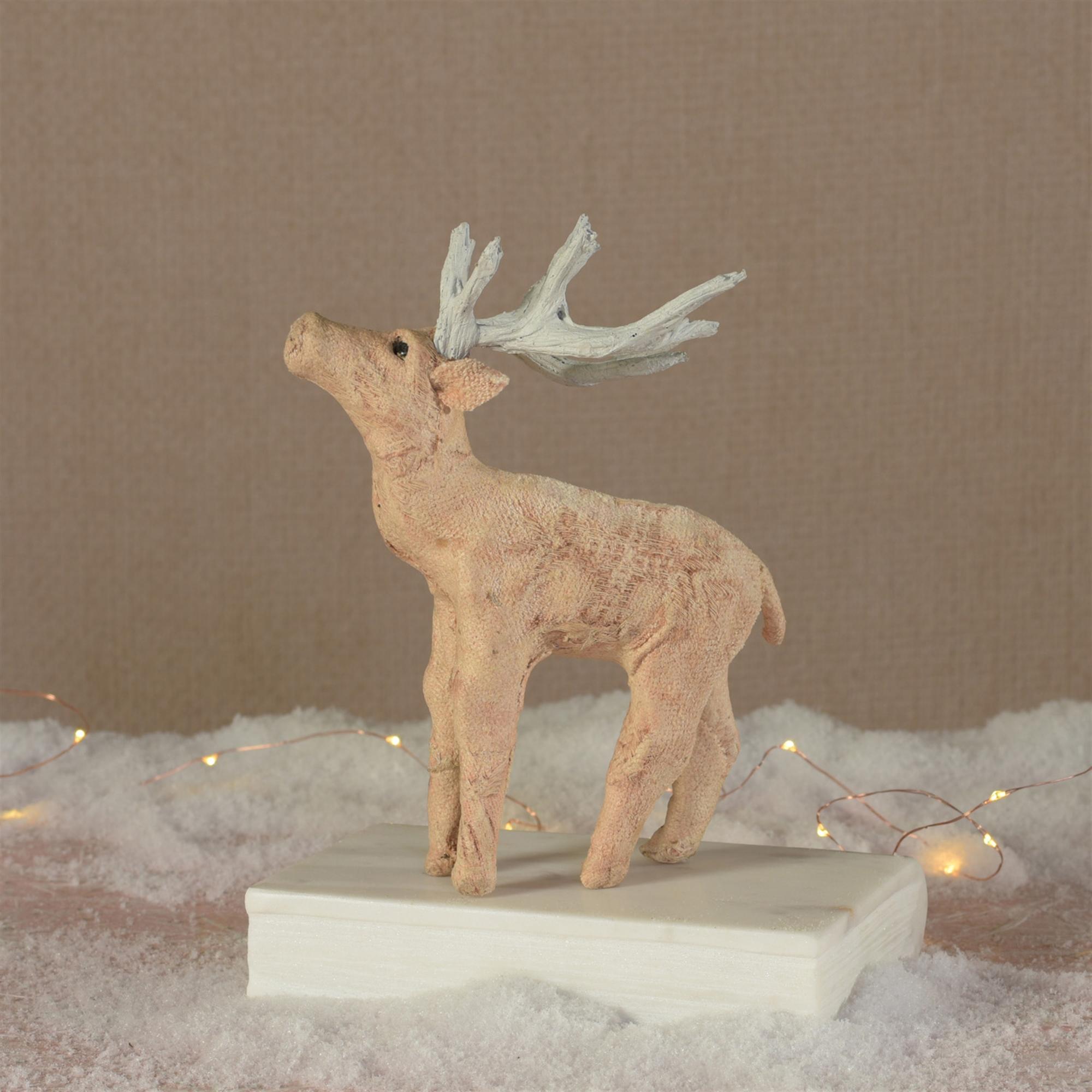 9403-16 - Blush Stag Standing - Petite - Stonewashed Pink by HomArt