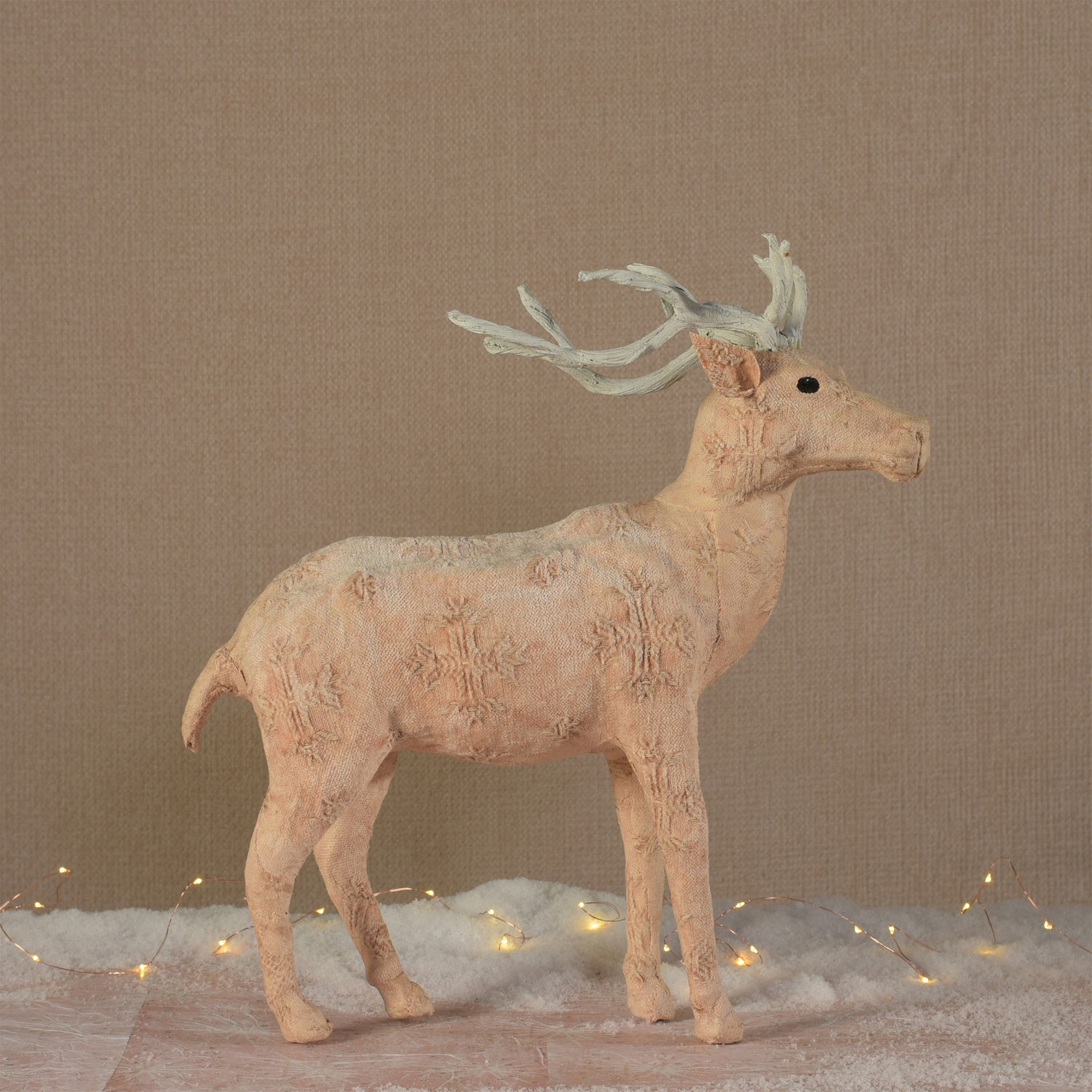 9411-16 - Blush Stag Standing - Large - Stonewashed Pink by HomArt