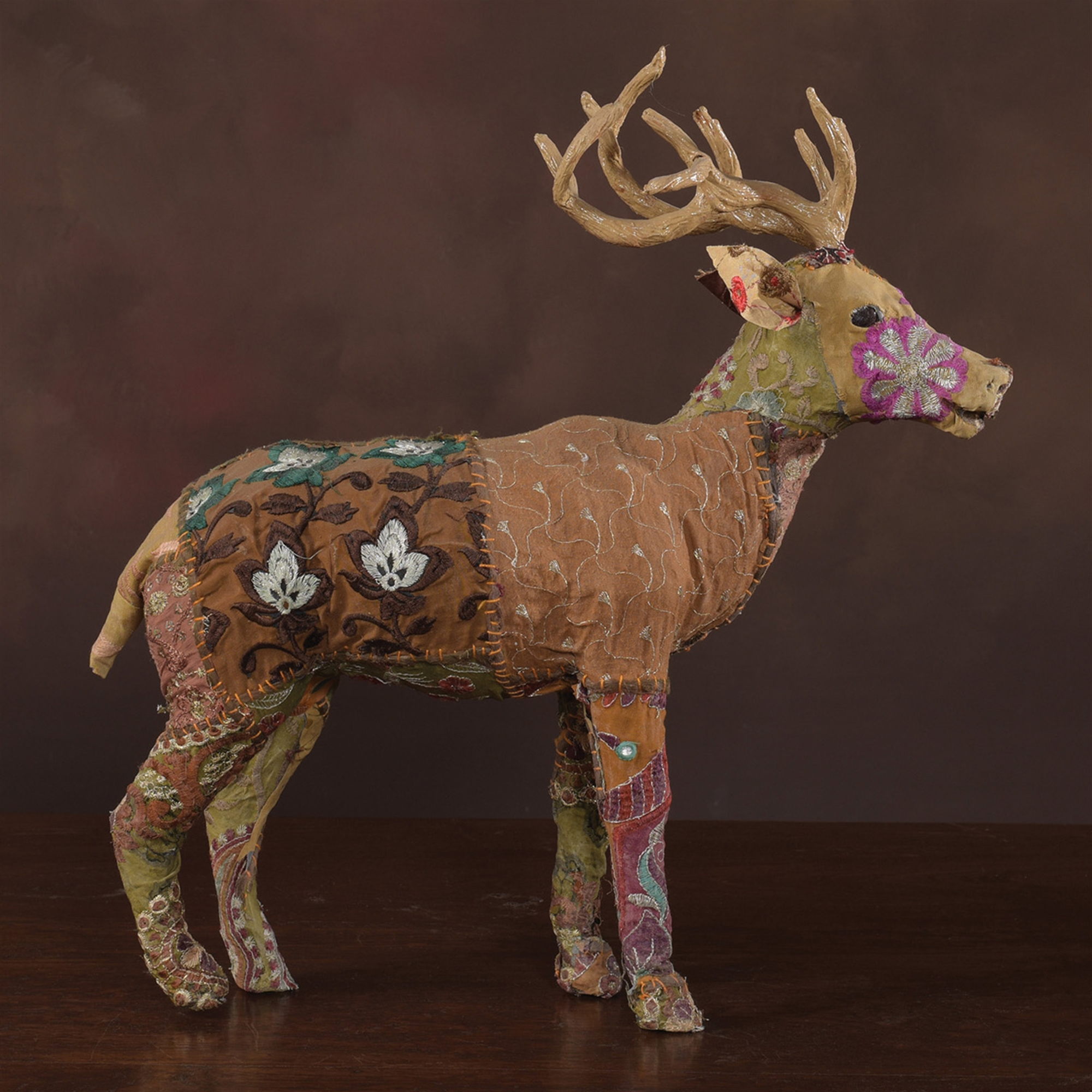 9411-21 - Bavarian Forest Stag Standing - Large - Deep Brown by HomArt