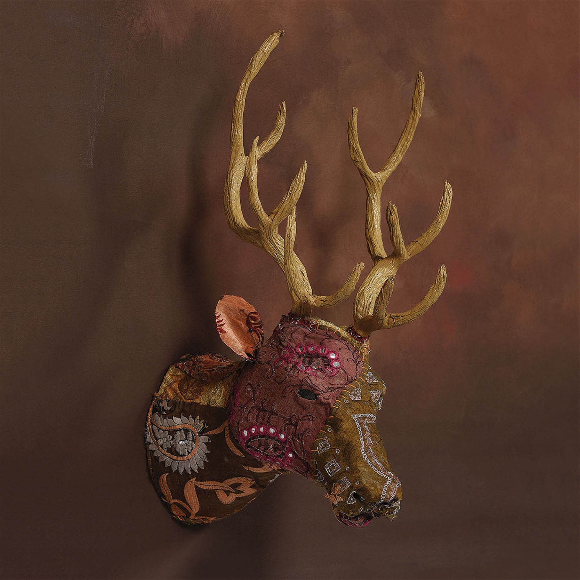 9420-21 - Bavarian Forest Stag Head - Wall Mount - Deep Brown by HomArt
