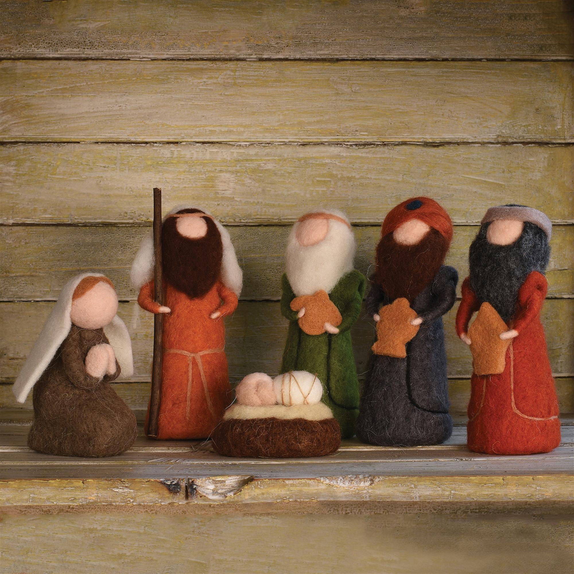 95040-0 - Felt Nativity - Set of 6 Figurines by HomArt