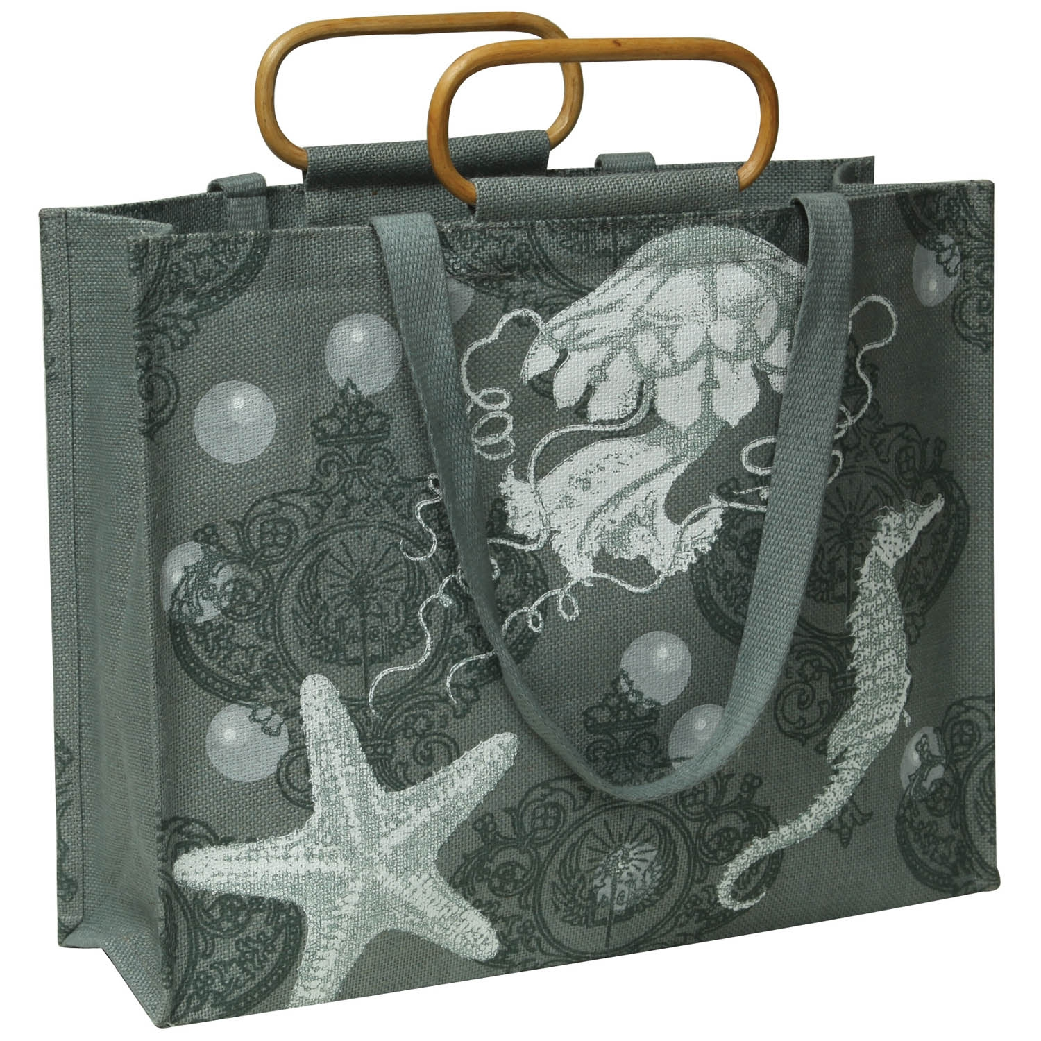 9901-71 - Jute Tote - Sealife by HomArt