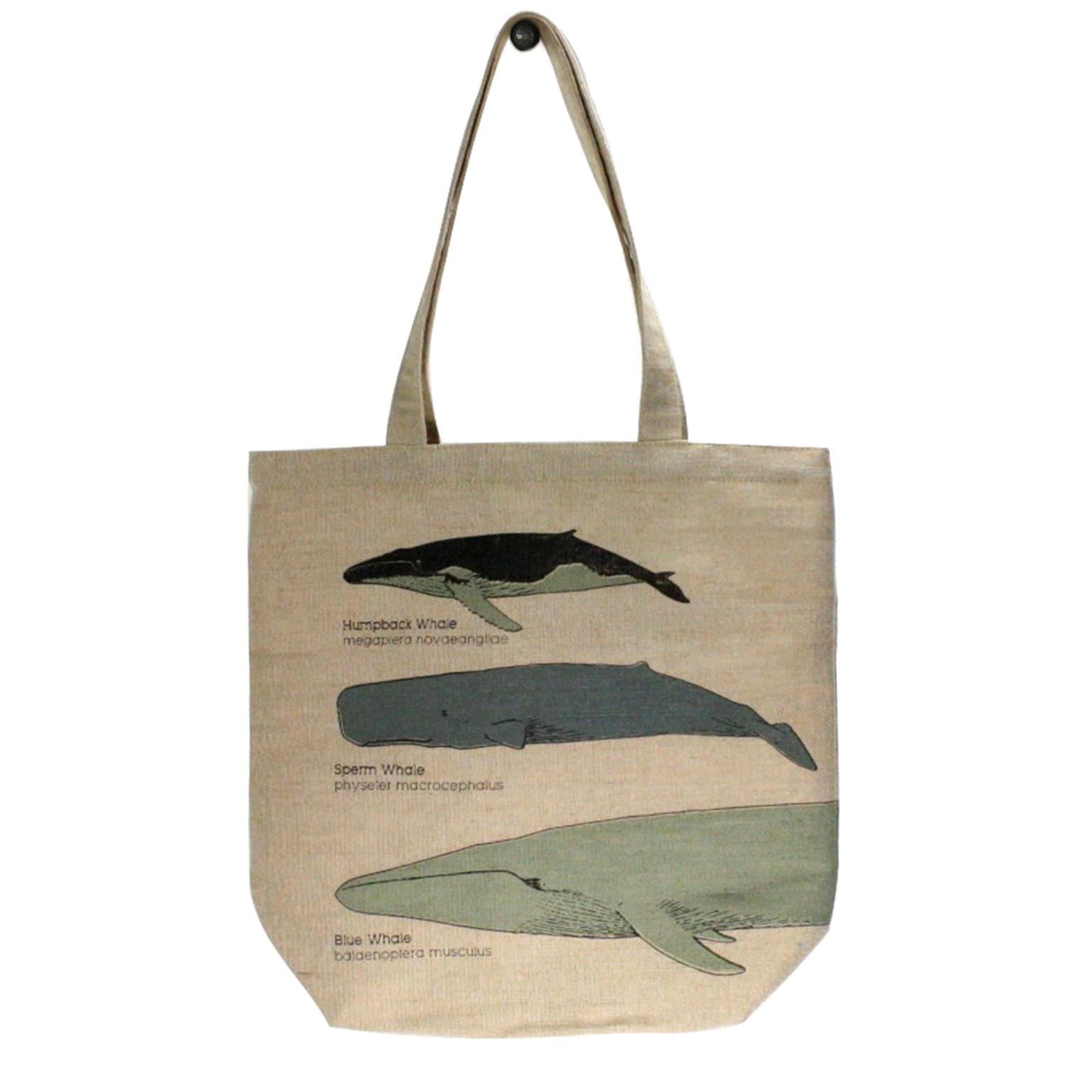 9913-197 - Juco Tote Bag - Whale Chart by HomArt